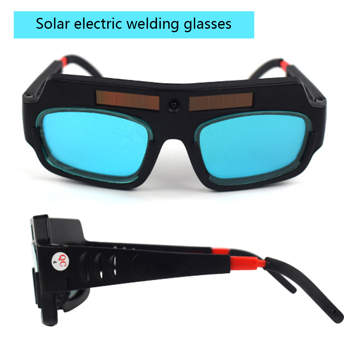 1pcs Welding Protection Solar Powered Auto Darkening Welding Mask Helmet Goggle Welder Glasses Adjustable Mirror Leg Goggles