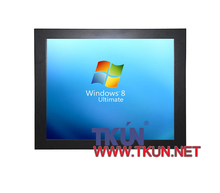 Embedded 19-inch industrial touch screen LCD display, high-precision 5-wire resistive touch screen