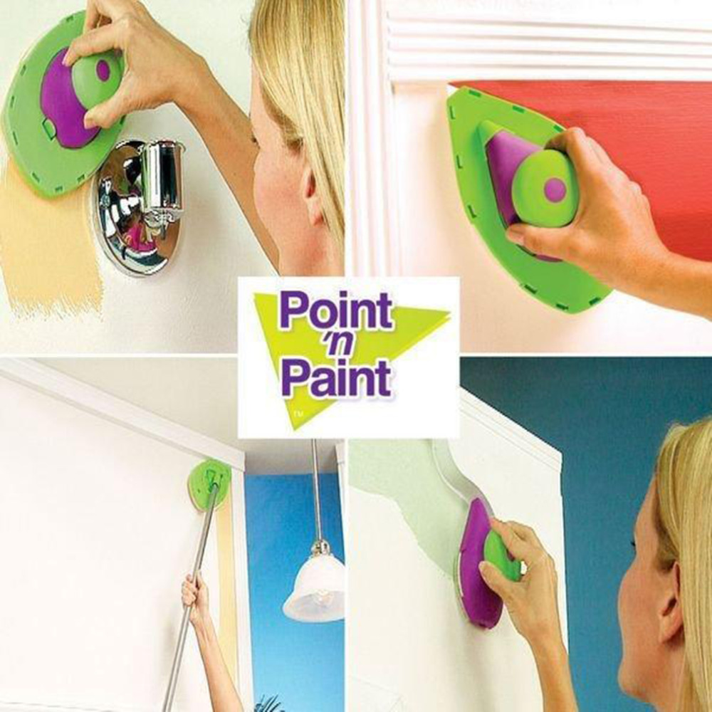 1Set Decorative Paint Roller and Tray Set Painting Brush Paint pad pro Point N Paint Household Wall Tool