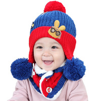 New Children Baby Hats Scarf Bonnet Hat Baby Fashion Knitted Autumn Winter Warm Caps Boy Girl Cap Kids Cap Baby Boy Hat
