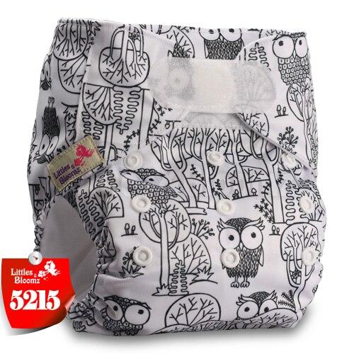 [Littles&Bloomz] Детские Моющиеся Многоразовые, настоящая стандартная ткань, застежка-липучка, карман для подгузников, пеленки, обертывание, подходит для рождения в горшке - Цвет: 5215