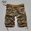 Mens Cargo Shorts Casual Algodón pantalones Multi Del Bolsillo Verano Hombre Pantalones Cortos Militares Tamaño Grande Bermuda 2017 Marca Americana Europea