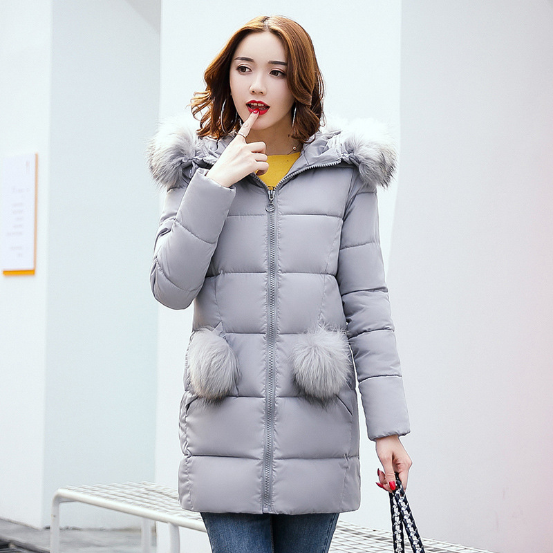 2017 New Women Winter Coat Warm Winter Thick Hooded Parka Womens Down Jackets Female Overcoat High Quality Abrigos Mujer fashionable thick hooded pleated down coat for women