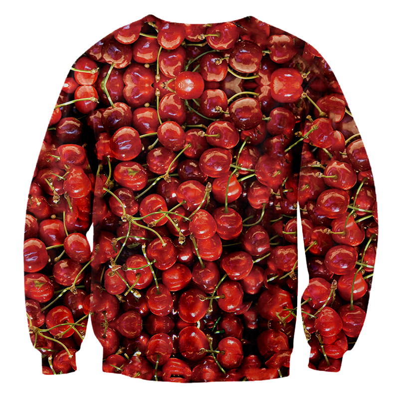Personality 3D Full Printed Man Red Cherry Sweatshirts Funny Unisex Clothing Men 39 s Delicious Fruit Fashion Pullover Hiphop Tops in Hoodies amp Sweatshirts from Men 39 s Clothing