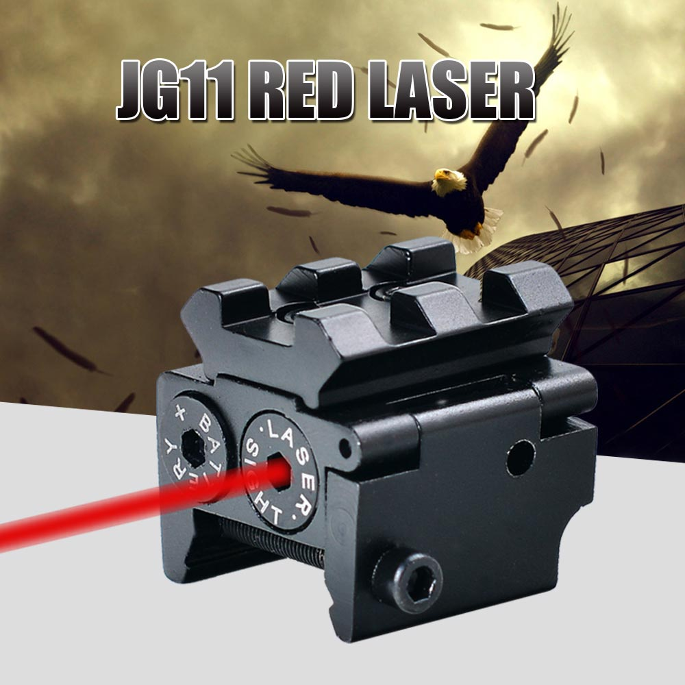 JouFou JG11 Hunting Adjustable Mini Red Dot Laser Sights Tactical Optiacs Sight 11 / 20mm Rail Mount for Shotgun Pistol