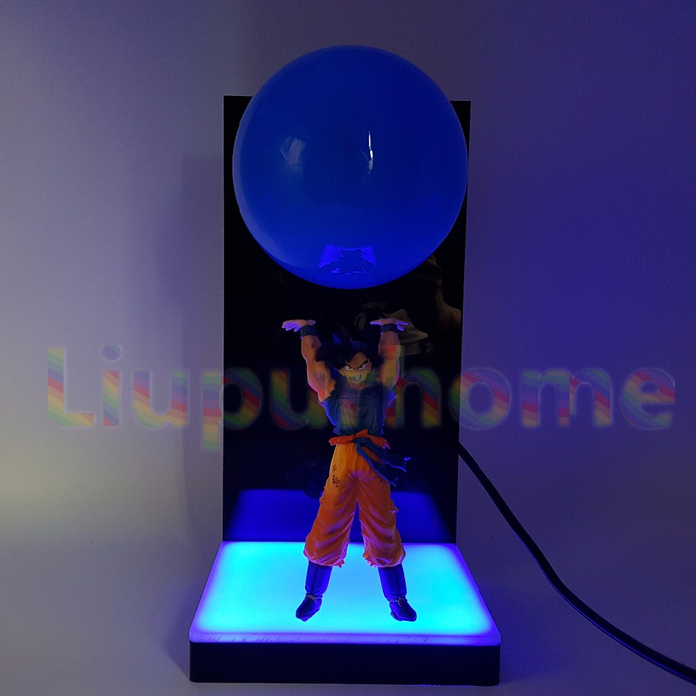 Dragon Ball Z Son Goku Spirit Bomb Blue Led Base DIY Set Night Lights Anime Dragon Ball Super DBZ Led Table Lamp Christmas Decor anime dragon ball z golden shenron crystal ball led set dragon ball super son goku dbz led lamp night lights xmas gift