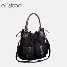 2018 Fashion Women's Handbags Shoulder Bags Ladies Multi-pocket Casual Canvas Bags High Quality Vintage Femme Tote Famous Brands