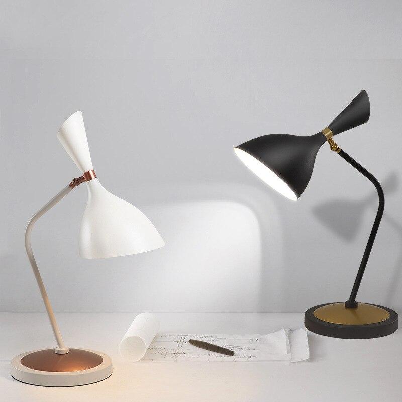 LukLoy Nordic Table Lamp Modern Minimalist Eye Warm Study Bedroom Bedside Lamp Creative Personality Living Room Adjustable Light стоимость