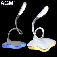 AGM LED Scrivania Lampada Da Tavolo Luce di Notte Clover 3 Livello Dimmerabile Auto del Sensore di Tocco Senza Fili Ricaricabile Per La Lettura Da Comodino