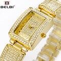 BELBI de Primeras Marcas de Lujo Reloj de Las Mujeres de Moda Casual Relojes del Cuarzo de JAPÓN-Movimiento Del Reloj Impermeable Relojes Relogio Feminino Reloj