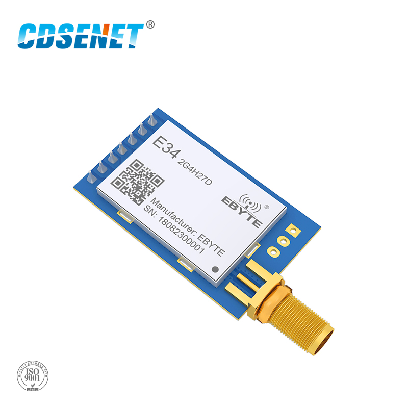 2.4GHz NRF24L01+ Long Range Wireless IoT Transceiver CDSENET E34-2G4H27D 5000m 2.4G Transmitter Receiver NRF24L01PA Modulue