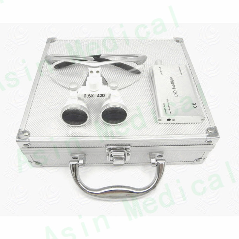 Metal case 2.5X/3.5X enlarger lens first time user surgical oral loupe dentist magnify glasses кальсоны user кальсоны