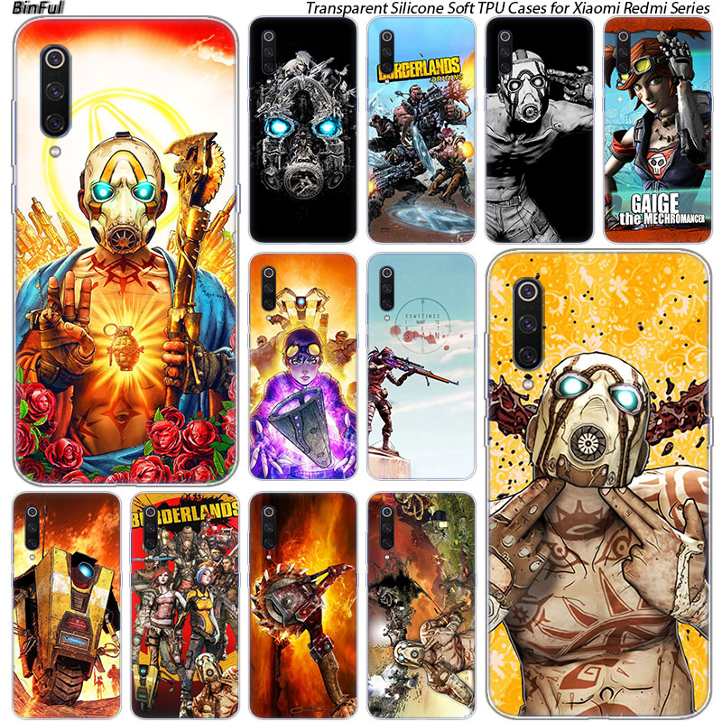 Video Game Borderlands Silicone Case For Xiaomi Pocophone F1 9T 9 9SE 8 A2 Lite A1 A2 Mix3 Redmi K20 7A Note 4 4X 5 6 7 Pro S2