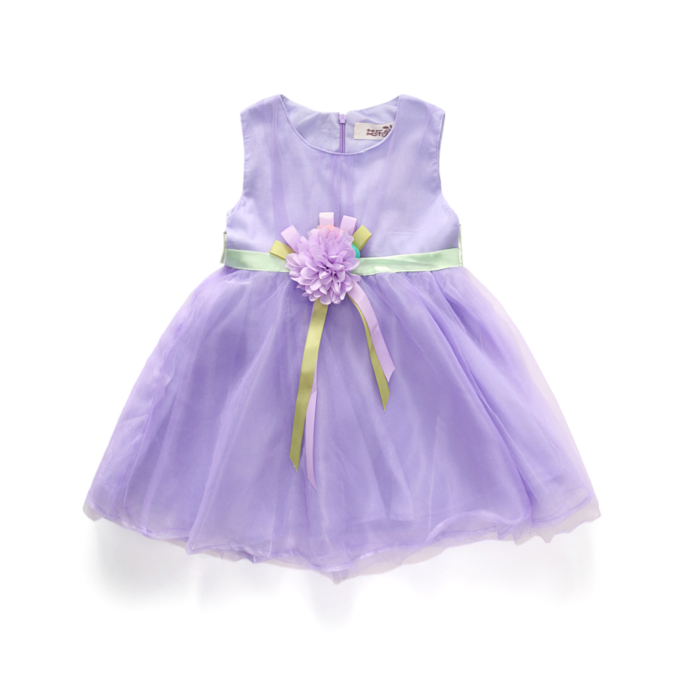 2017 New Girls tutu dress + belt flowers gauze children princess vest dress Girls lace dress kids clothes Free ship pink purple аксессуар carax tpms crx 1042 l