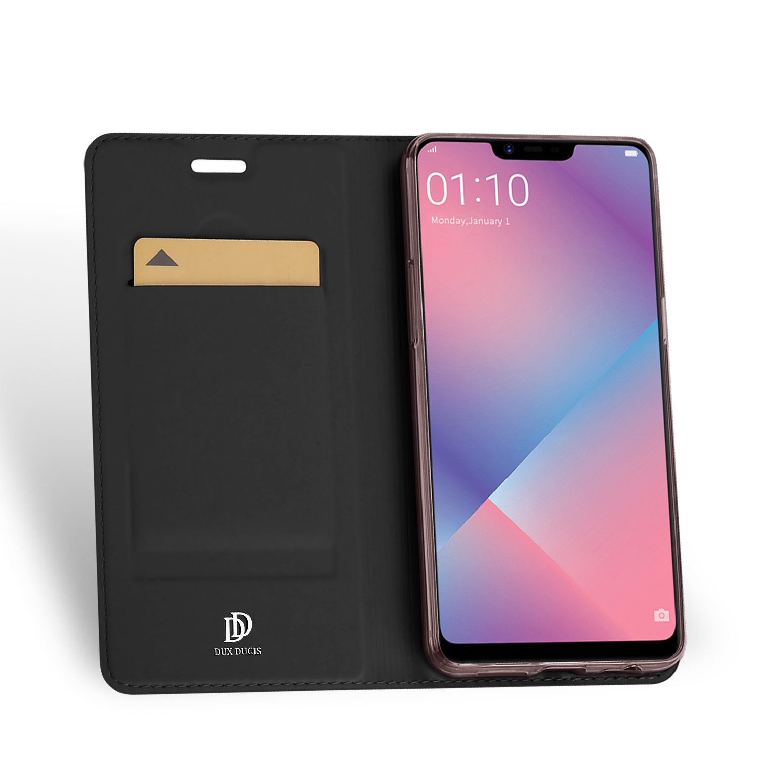 Flip Case For OPPO A5 A3S AX5 PU Leather TPU Soft Bumper Protective Card Slot Holder Wallet Stand Cover Mobile Phone Bag in Flip Cases from Cellphones Telecommunications