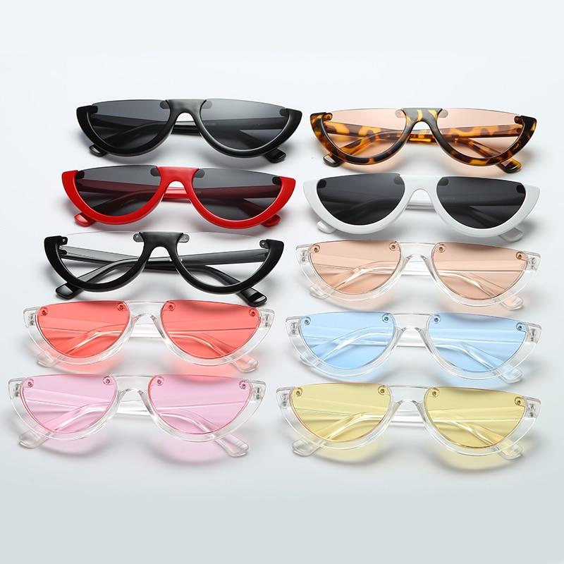 WOMEN Sunglasses Spectacles Eye-Lenses Half-Frame Novelties Retro Luxury Brand