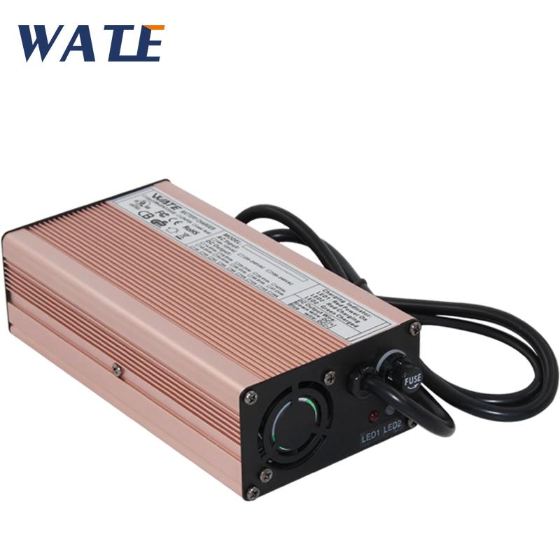 Carregador de bateria inteligente 54.6v 5a, 54.6v 5a bicicleta 48 v lítio 48 volts li-ion v 5a para 10ah 15ah 48 v 20ah carregador de bateria 13s
