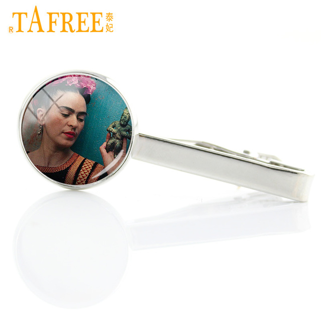 Tafree Painting Glass Art Tie Clips Vintage Bar Jewelry