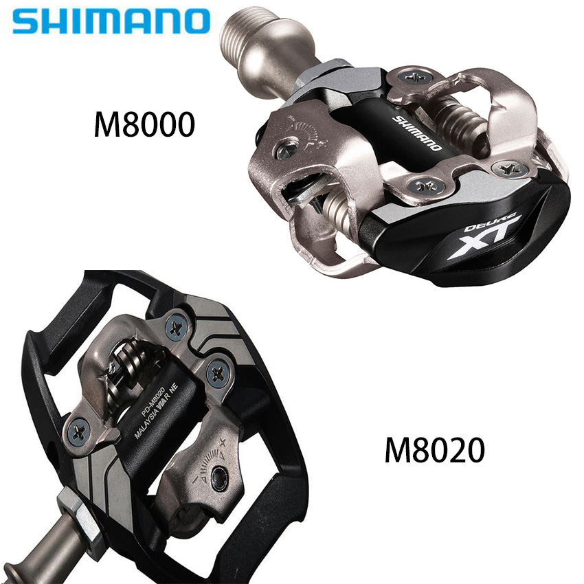 MTB Bike Pedales Shimano XT PD M8000 M8020 Self-Locking Cycling Mountain Clip Components Using for Bicycle Racing Clea cessorios shimano deore xt pd m8000 self locking spd pedals mtb components using for bicycle racing mountain bike parts