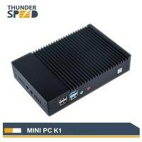 2018 безвентиляторный мини ПК Windows 10 Linux Ubuntu мини компьютер 4 ядра ТВ коробке 2 г ОЗУ 32 Гб SSD Wi Fi Bluetooth VGA HDMI Лидер продаж