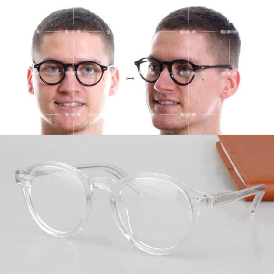2017 brandy brand classic retro eyewear eyeglasses round transparent glasses frame temperament eye glasses frames men