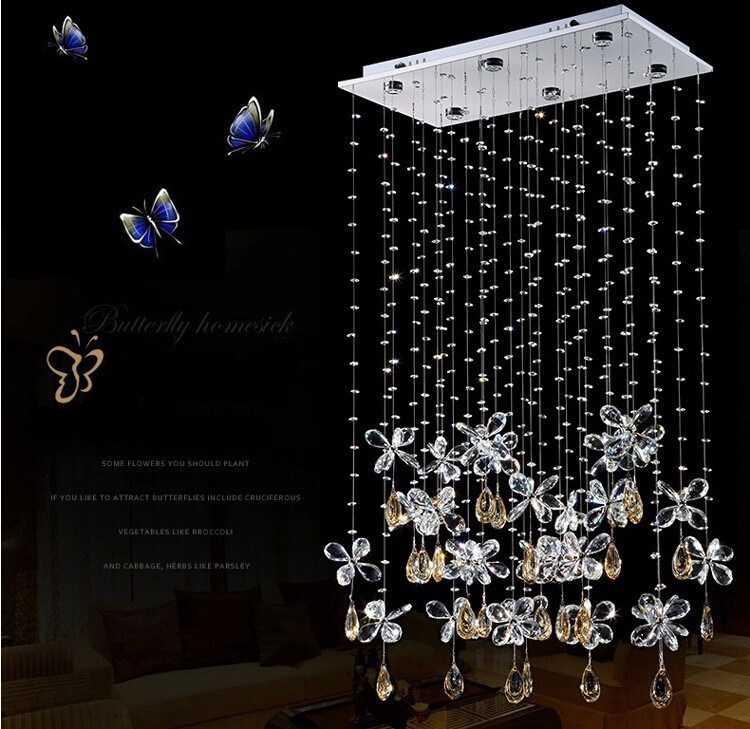 New Fashion selling Butterfly LED Angel crystal Pendant Lights Modern bedroom K9 crystal Ceiling lamp Luxury Bedroom droplightNew Fashion selling Butterfly LED Angel crystal Pendant Lights Modern bedroom K9 crystal Ceiling lamp Luxury Bedroom droplight