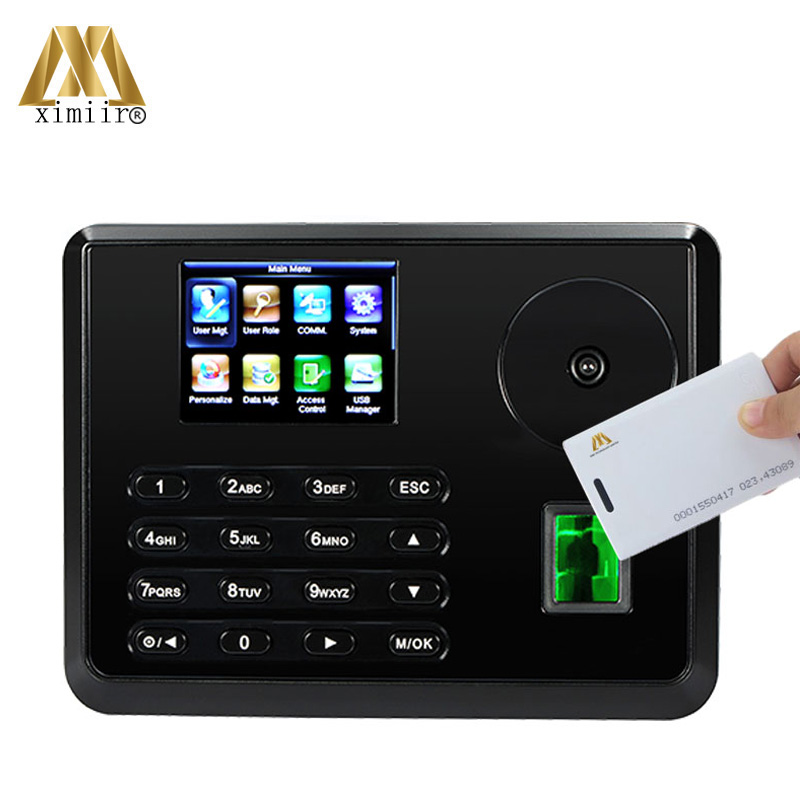New Arrival Palm Time Attendance With 125KHz RFID Card ZK TX628-P Biometric Fingerprint Time Attendance