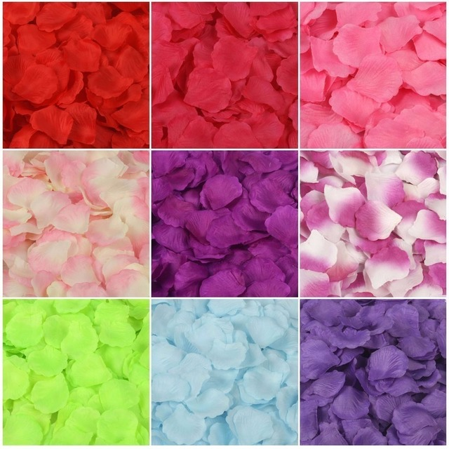 Beautiful  Rose Petals 5000 Artificial Silk Wedding Party Decorations Aisle Runners Girl Tossing Table wedding Flower Petal