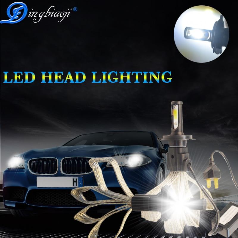 H1 H4 H7 H11 H27 H3 HB3 HB4 H13 9004 9007 LED Phare De Voiture Ampoules 60 w 6400lm 6000 k s7 Auto Phare Brouillard Lumière 12 v 24 v carstyling