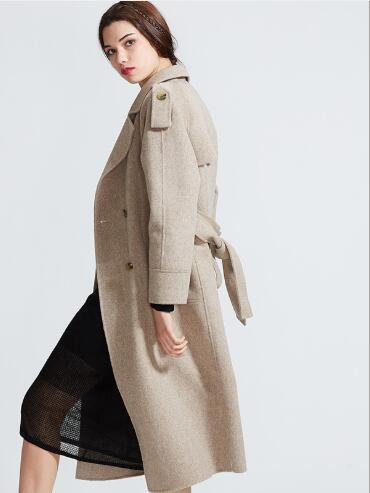 Le khaki Bas Cachemire Femme Nouvelle En Solide Laine Longue Fit D hiver  Femmes 2018 Pardessus De Tournent Veste Mode Vers Manteau ... e9a81dd19377
