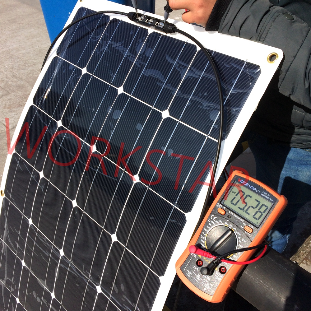 20V 100W Flexible Solar Panel Module 36pcs Mono Solar Cell for RV Marine Boat 12V Battery Solar Charger 1200*540*3 high efficiency solar cell 100pcs grade a solar cell diy 100w solar panel solar generators