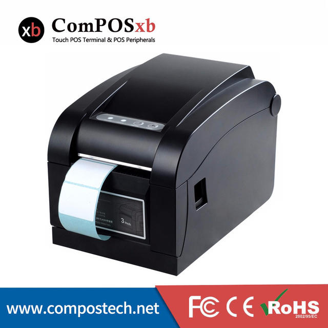 80mm direct thermal barcode printer sticker label printer for fast food restaurant dtp350