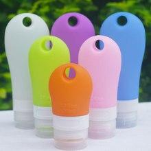 Mini garrafa de silicone portátil de 38ml, 60ml e 90ml, pequena garrafa de silicone recarregável, recipiente de viagem para shampoo
