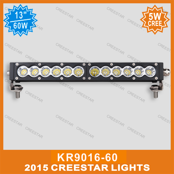 60W led offroad bar KR9016-60 13inch 5w led light bar 12V 24V Led spotlight with multi color available 5400Lm IP67 12V Led bar amber white led offroad bar gdcreestar selling 20inch 12v led offroad bar kr9016 90 90w 12v led driving work bar lights