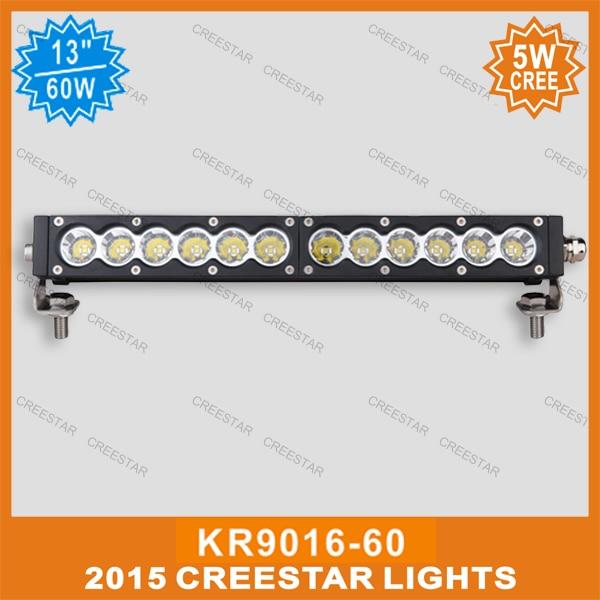 60W светодиодные бар offroad KR9016-60 13inch 5W светодиодные свет бар 12В 24В светодиодный прожектор с Multi имеющийся цвет водостотьким 5400lm защиты IP67 12V светодиодные бар