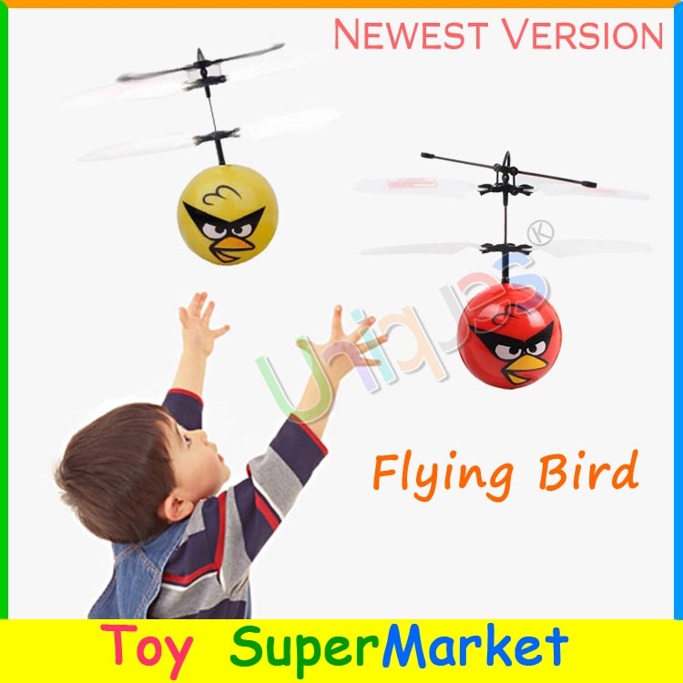 Flying Bird Drone UFO RC Remote Control Helicopter Quadcopter Hand Sense Ball Fairy 2016 New