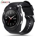 V8 smart watch reloj inteligente com câmera bluetooth sincronização smartwatch notificador dispositivos wearable para ios android pk gt08 gd19