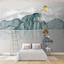New modern art ink landscape landscape background wall painting decorative painting modern european landscape design