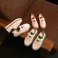 Crianças meninos shoes sapatilhas meninas sapato menino da menina das crianças do bebê para 3 ~ 15 ano 2017 primavera outono moda de nova tamanho 21-36 casual branco