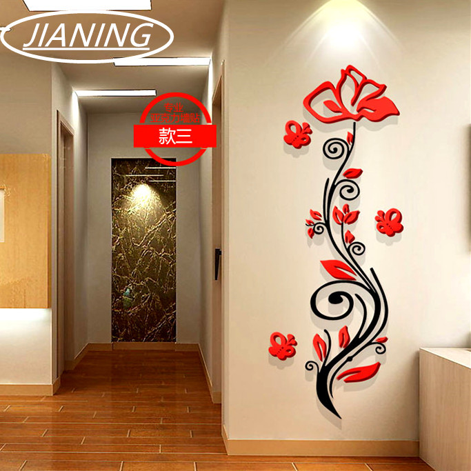 Buy rose flower entranceway tv background for 3 suisses decoration murale