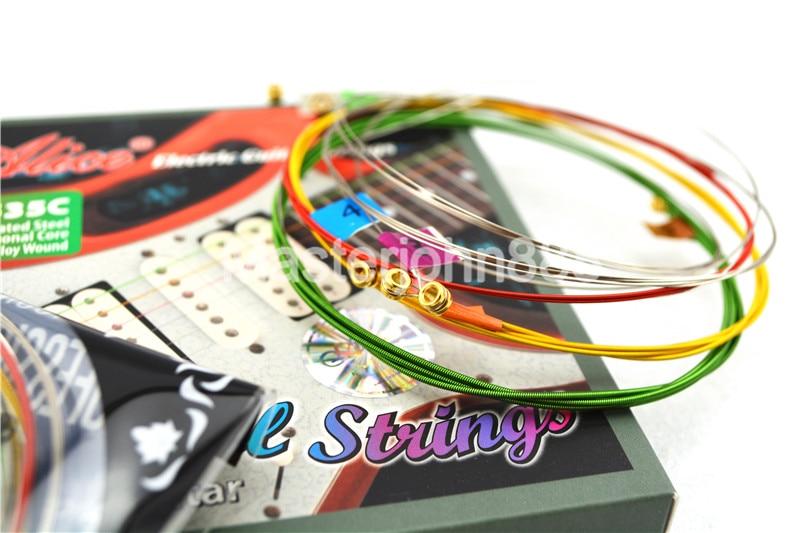Alice AE535C Kleurrijke elektrische gitaarsnaren Verzilverd en - Muziekinstrumenten - Foto 5