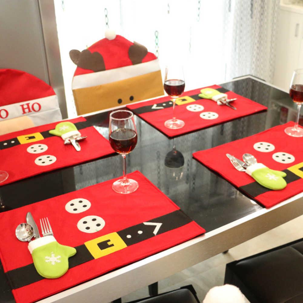 عيد الميلاد تصميم مفرش طاولة السنة الجديدة المنزل فندق الطعام قاعة ديكور فني المفارش الجدول الحصير لوازم 45*33 سنتيمتر