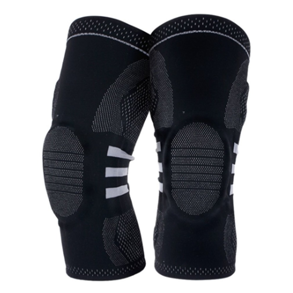 цена на 1 Pair Professional Elastic Sports Knee Pads Support Brace Wrap Protector Knee Pad Arthritis Injury Gym Sleeve Leg Knee Supplies