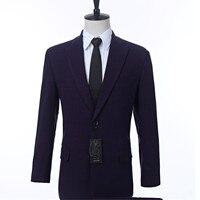 Custom dark purple plaid men's jacket formal dress men's jacket lapel groom's best man's jacket custom