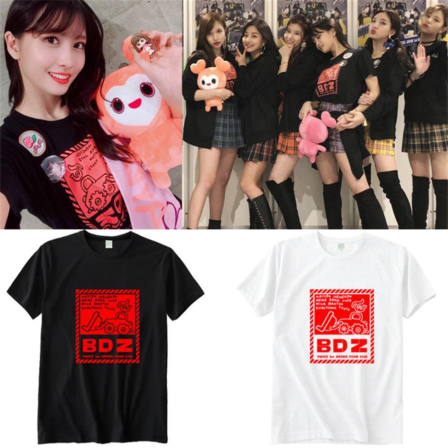 US $14 99 |Kpop Twice BDZ Concert Momo Sana Support Cotton T Shirt Loose  Tshirt for Men and Women Fashion Tee-in T-Shirts from Women's Clothing on