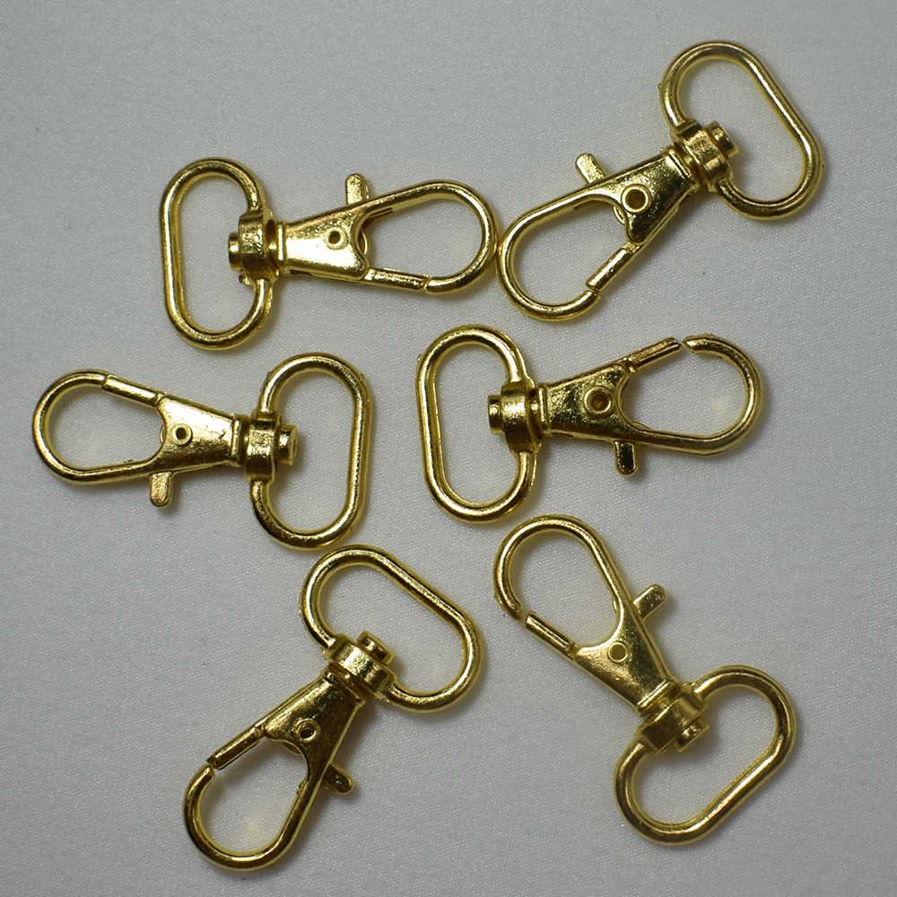 10 ชิ้นทอง/Bronze หมุนกุ้งก้ามกราม Clasp คลิป Key Hook Keychain แหวนกุญแจแยกผลการค้นหา Clasps สำหรับพวงกุญแจทำ DIY Craft