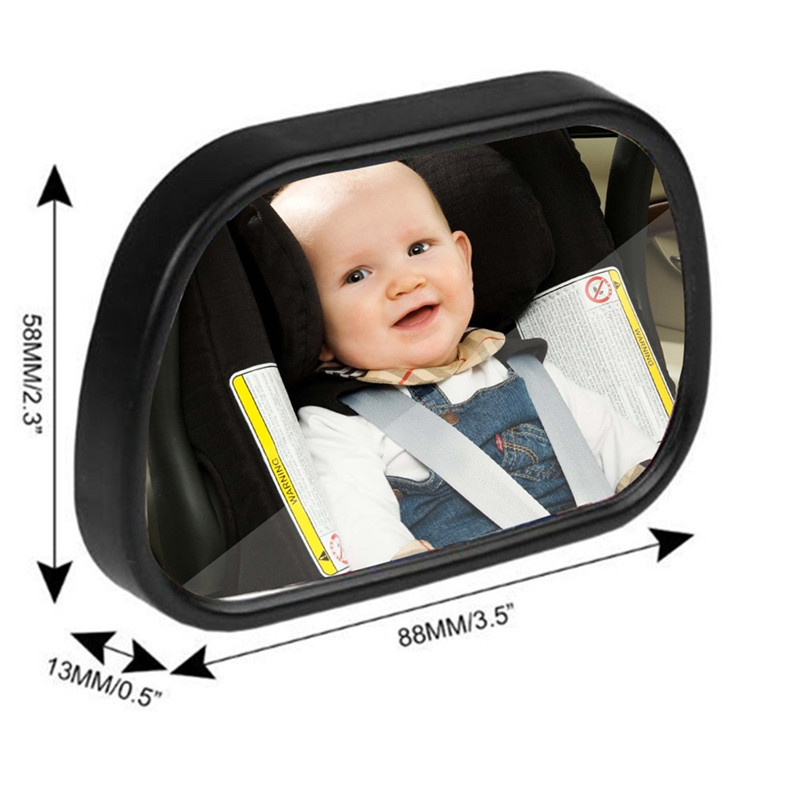 2 in 1 Adjustable Car Rear Seat View Mirror With Clip and Sucker for Baby Child 360 degree Adjustable Car Back Seat Mirror
