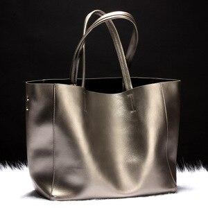 Image 4 - I più venduti borsa da donna borsa a secchiello in vera pelle borsa Casual borsa a tracolla di lusso da donna borsa a tracolla da donna in otto colori caramelle