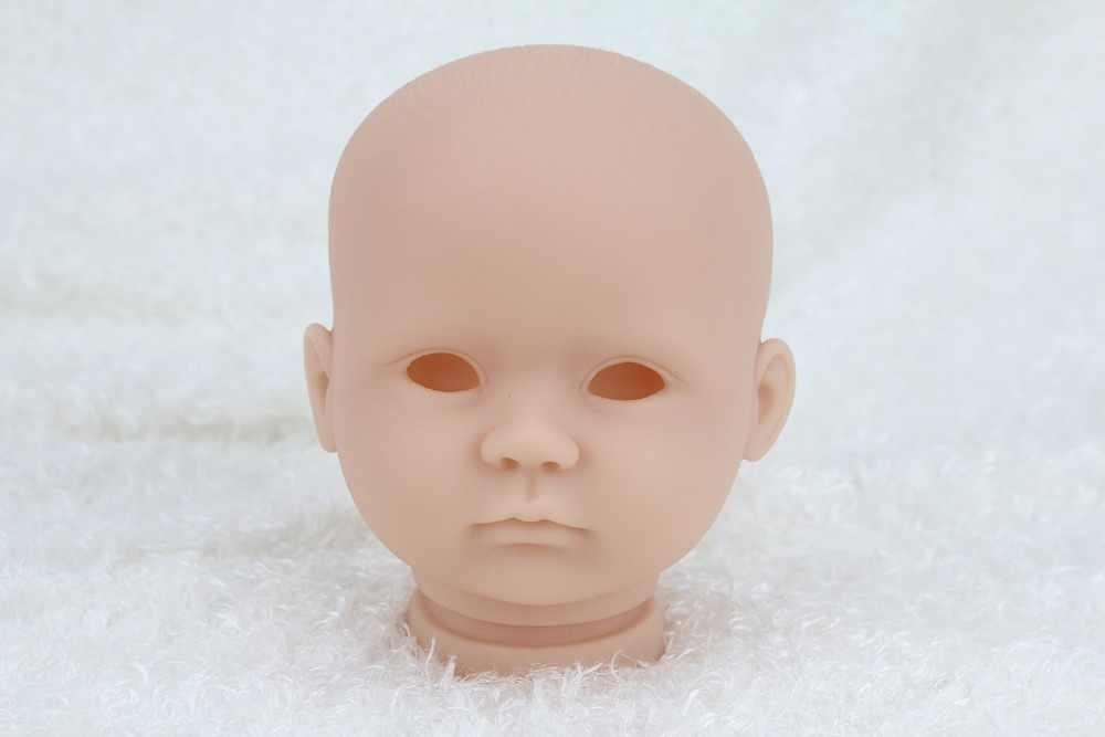 16 inç/40 cm Unisex Vinil Yeniden Doğmuş bebek Kitleri Bebek Aksesuarları Ile Gerçekçi Kafa 3/4 Bacaklarda Boş Boyasız Parçaları DIY