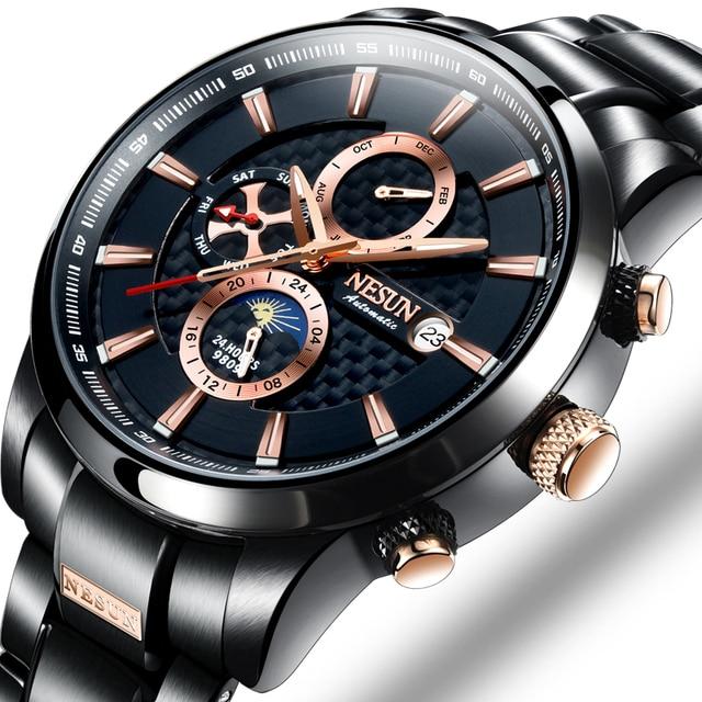 NESUN Luxury Swiss Watch Multifunctional Display Automatic Self-Wind Watch